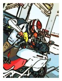 Ducati給油中