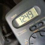 バイクの電圧測定