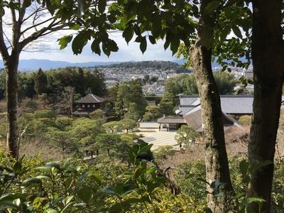 銀閣寺から望む京都市内