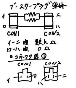 ブースタープラグ単体のチェック